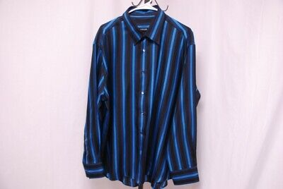 VERSACE men's long sleeve silk shirt multicolor stripes sz 60 XXXL 3XL