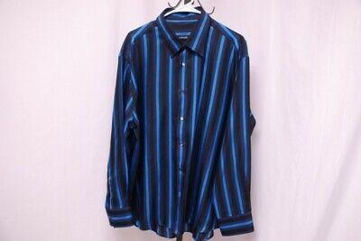 VERSACE men's long sleeve silk shirt multicolor stripes sz 60 XXXL 3XL