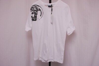 NEW NWT VERSACE COLLECTION men's t shirt V neck white with Medusa Head sz XL / L