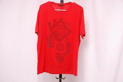 VERSACE men's red multiple Medusa t shirt - sz XL - L trusted seller!