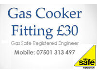 £30 Gas Cooker Installation By a Registered Qualified Engineer Birmingham Solihull Install Fitter
