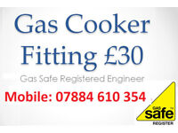 * £30 Gas Cooker Installation * Registered Engineer Birmingham install hob connect disconnect corgi