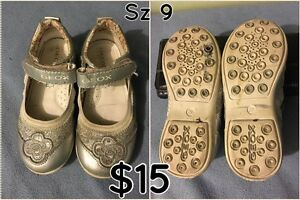 Silver Geox girls shoes London Ontario image 1