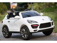 Cayenne Style 12V Kids Electric Car Ride White, Remote, Mp3, Lights
