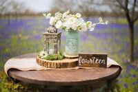 Rustic wedding decor for rent at affordable price
