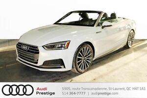 2018 Audi A5 PROGRESSIV CABRIO S-LINE/ COMFORT SEATING/ LED HEA
