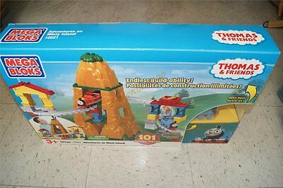 Mega Bloks THOMAS & FRIENDS 10521 Adventures on Misty Island 95 Complete IN BOX
