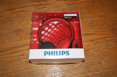 Philips Eargear Shl5000/28 Headband Headphone Red Black
