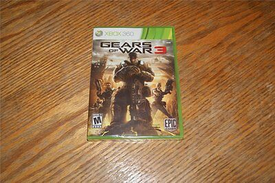 Gears Of War 3 Xbox 360 Microsoft Game Sealed