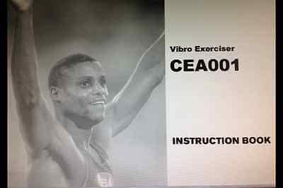 Carl Lewis Instruction User Manual Book For Cea001 Vibro Exerciser