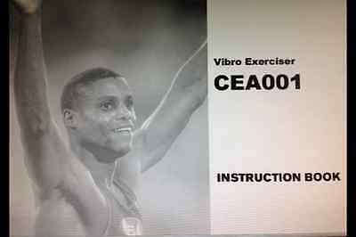 Carl Lewis Instruction User Manual Book For Cea001 Vibro Exerciser
