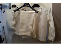 4 pieces of ivory/cream pageboy suit age 7/8 [brand new ]never worn it