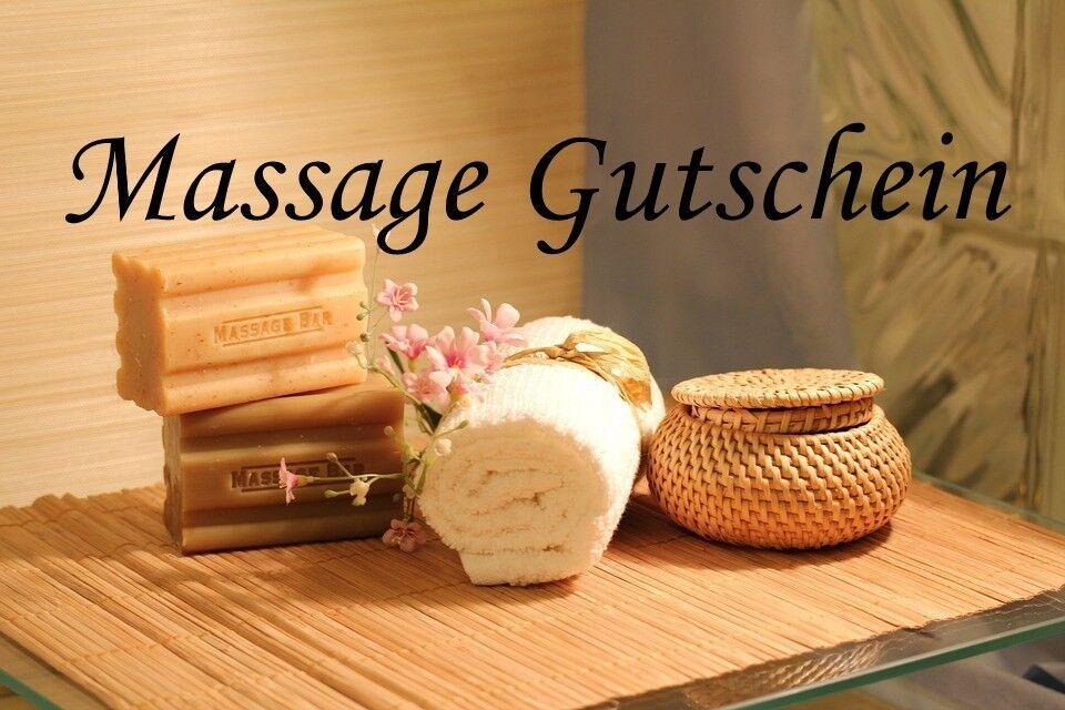 30 Min. Massage Gutschein Rucken -Schulter kopf Massage wert 25 €