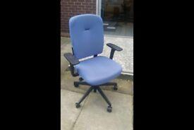 4 senator operator office swivel chairs.