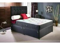 🔵💖🔴FASTEST DELIVERY 🔵💖🔴Double Divan Bed with Orthopedic mattress Single & King also