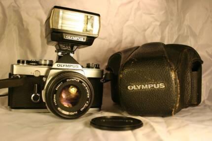 Olympus OM-1 Film Camera + F1.8 Zuiko Lens -Bundle Pack