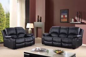 Valia 3&2 Luxury Bonded Leather recliner sofa With Pull down Drink Holder