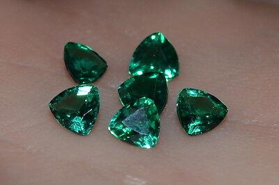 A Single 4mm Trillion Cut Genuine Enhanced Green Emerald!!!