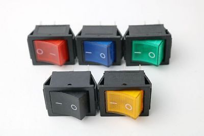 Panel Mount Rocker Switch I/O 4 Pins With LED Light Color 16A 250VAC/20A 125VAC Panel Mount Rocker Switch