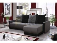 JUST £ 299.00 BRAND NEW CORNER SOFA BED/GREY COLOUR /MODERN DESIGN