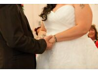 50's Style Wedding Dress, Morilee, Size 22, Lace up back panel