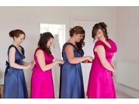 4x navy and pink bridesmaid dresses - can sell together £120 or separately £40