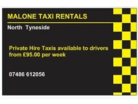 Private Hire Taxi Rentals - North Tynside - Newcastle - Northumberland