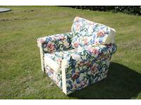 Large newly custom upholstered armchair. Multiyork / Sanderson