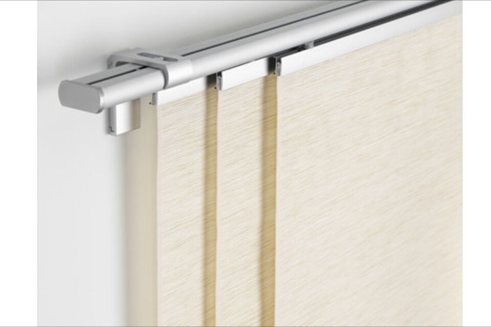 Modern ikea panel curtains and the complete kvartal tracks for Track curtains ikea