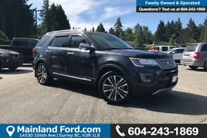 2017 Ford Explorer Platinum *ACCIDENT FREE* *LOCALLY DRIVEN*
