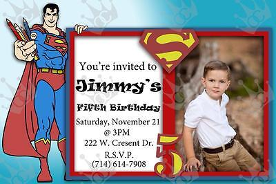 Kids Superman Birthday Party Invite Template (Birthday Party Template)