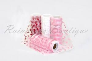 Tutu-Nylon-Tulle-Rolls-HEART-printed-6-x-10-yards-soft-netting-craft-fabric