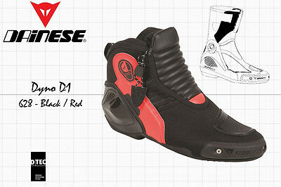 NEW - DAINESE DYNO D1 SHORT BOOTS - BLACK FLUO RED - US 9 EU 42 for sale  Shipping to Canada