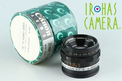 Canon 35mm F/2 Lens for Leica L39 #26801 F4