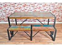 Rustic Industrial Reclaimed Boatwood Dining Sets - Wide Range of Options