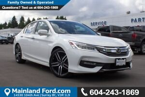 2016 Honda Accord Touring LOW KMS, NO ACCIDENTS, LOCAL