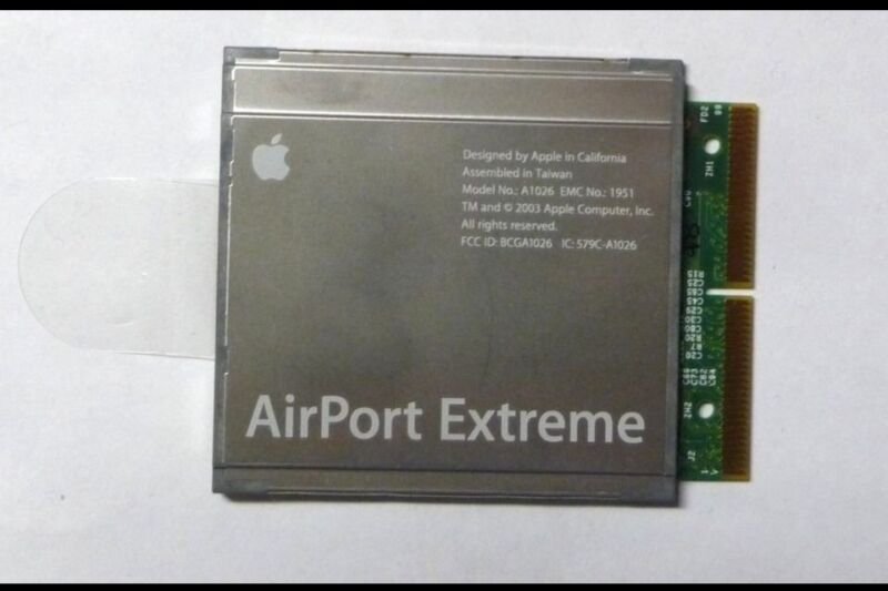 Apple AirPort Extreme Card A1026 - Works w/ G4 G5 IBook PowerBook  Imac Emac