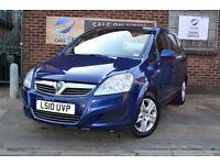 2010 (10) Vauxhall Zafira, 7 SEATER, LONG MOT & Free Warranty