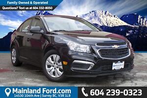 2015 Chevrolet Cruze 1LS NO ACCIDENTS, ONE OWNER