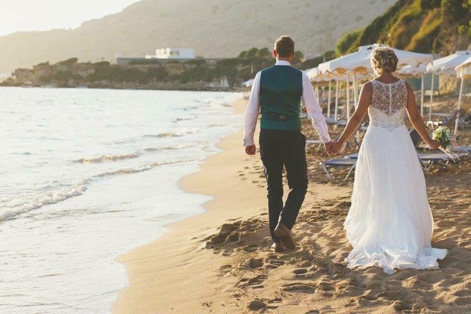 Beautiful embellished wedding dress