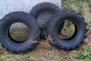 2, 26x9r12 and 1, 26x8r12 tires, barely used