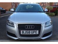 2009 AUDI A3 1.9 TDI SPORTBACK FACELIFT 78000 MILES FULL HISTORY NEW TYRES MOT10 MONTH HPI CLEAR