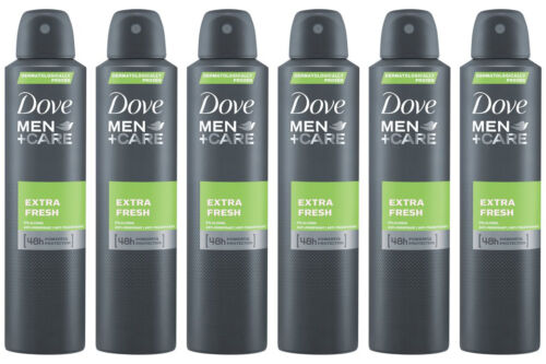 6 x Dove Men Care Extra Fresh Spray Deodorant Anti-Perspirant 150ml