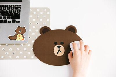 Korea Naver Line Friends Brown Character Mouse Pad Desktop Computer Acc Laptop