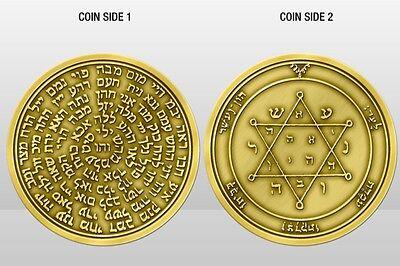 King solomon seal Kabbalah 72 Names Of God Talisman Coin