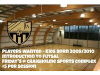 Introduction to Futsal session for kids born 2009/2010