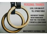 Level 3 personal trainer and Thai boxer