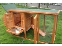 MINI Rabbit hutch/run and cover for sale