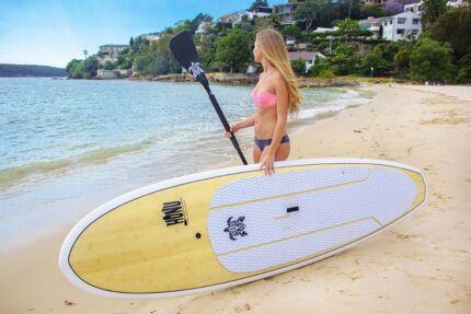 Stand up paddle board  - bamboo deck/epoxy - 9'8/10'0