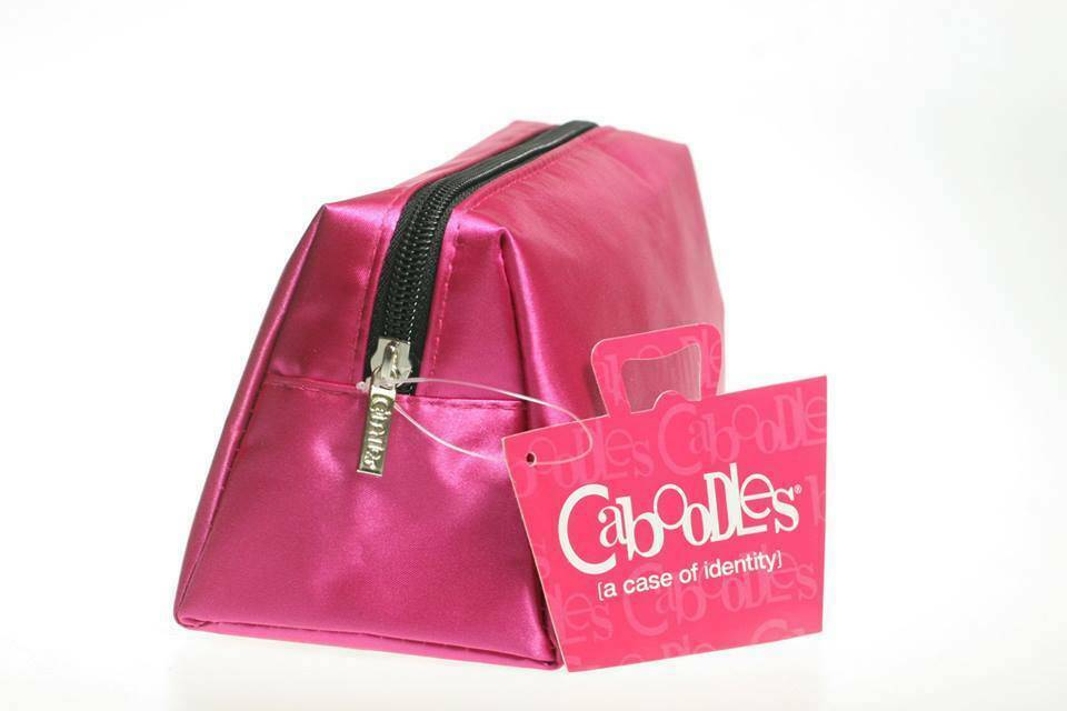 Caboodles Pixie Perfect Cosmetic Bag, Pink Satin, Small, 0.1
